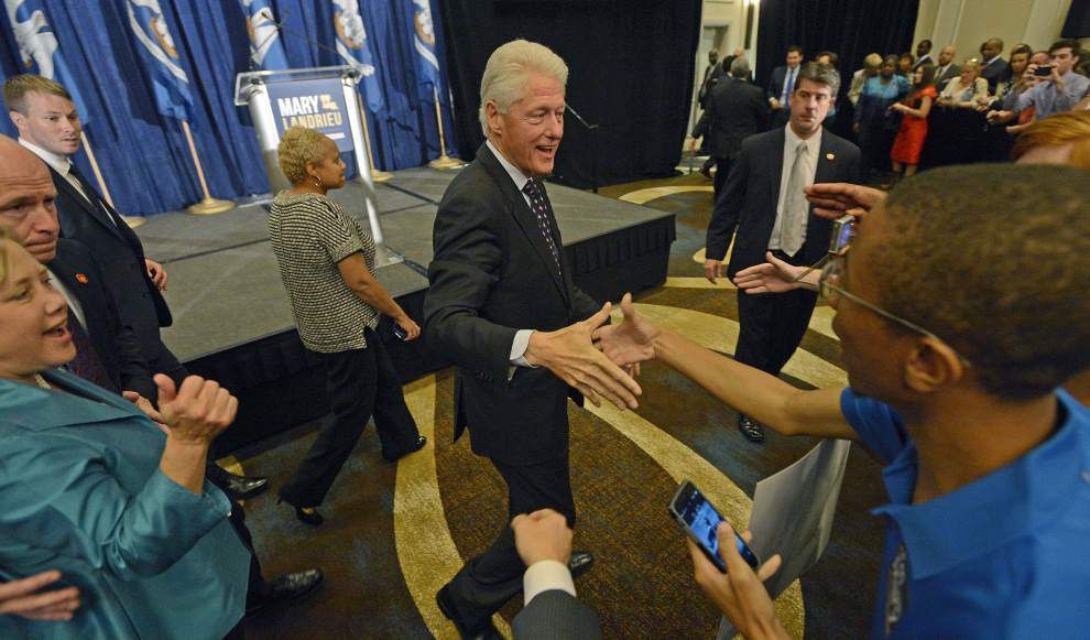 Former President Bill Clinton stumps for Mary Landrieu _lowres