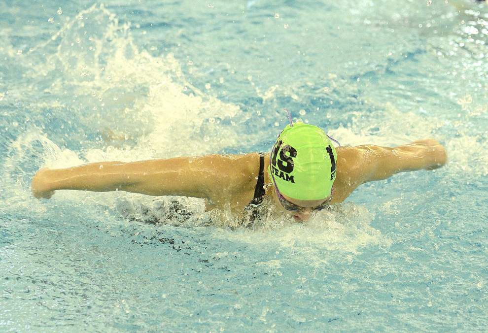 Lafayette High's Ashlyn Hunt, St. Thomas More's Grace Horton post individual state swimming titles _lowres
