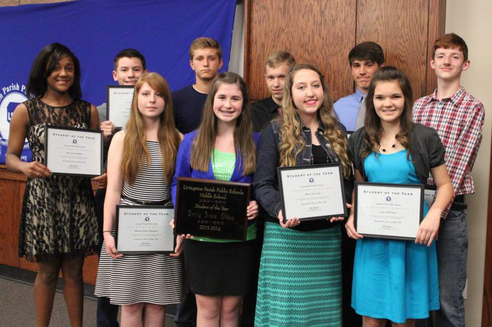 Livingston Parish School Board honors students of the year _lowres