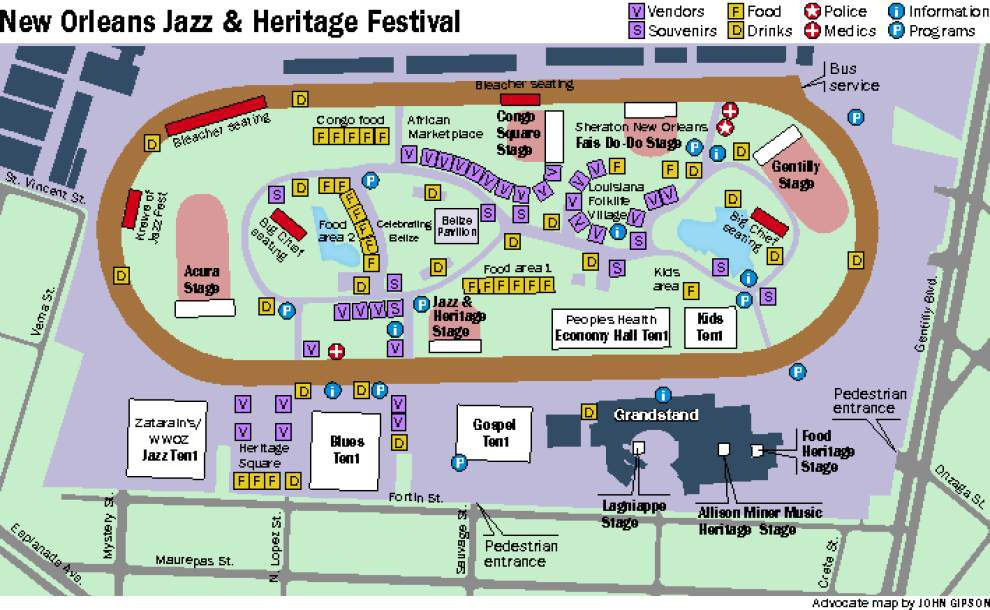 2016 New Orleans Jazz Fest 'cubes' are out, with schedule of stage ...