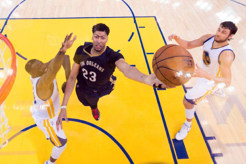 Anthony Davis on Pelicans' Game 2 loss at Golden State: 'We knew we were right there' _lowres