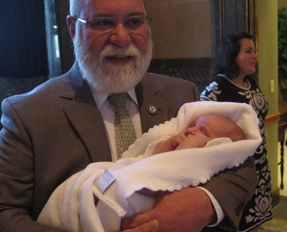Dose of grandbaby cuteness brings action in Louisiana Senate to a temporary halt _lowres