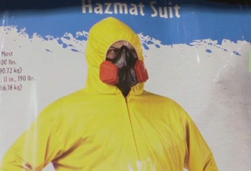 Poor taste? Hazmat suit costumes sell in Dallas _lowres