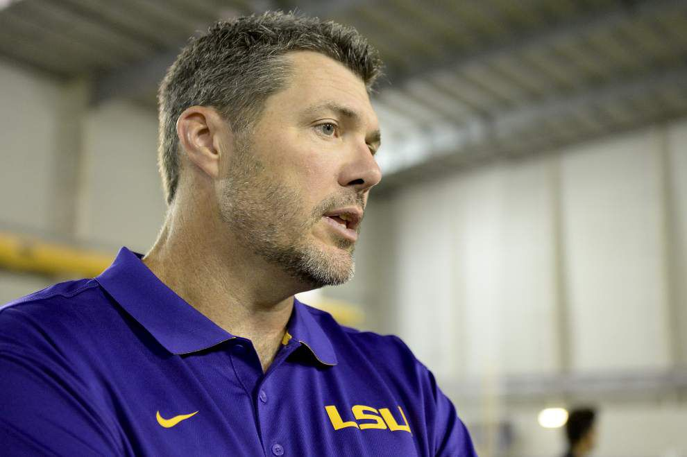 LSU offensive linemen are buying coach Jeff Grimes' mental approach _lowres