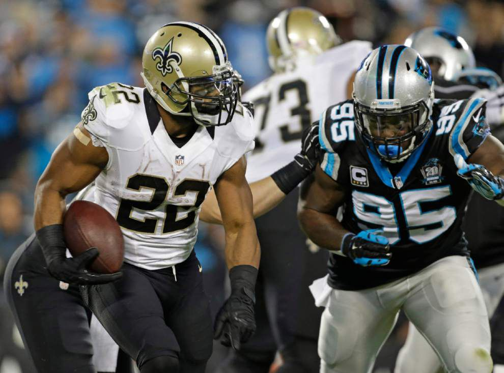 Video: Saints running back Mark Ingram says he felt good after his 30 carries against the Panthers _lowres
