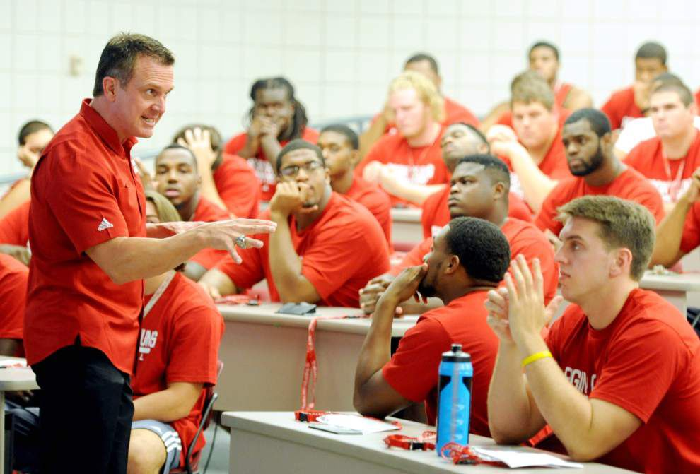 Mark Hudspeth welcomes his Cajuns back: 'Let's rock and roll' _lowres
