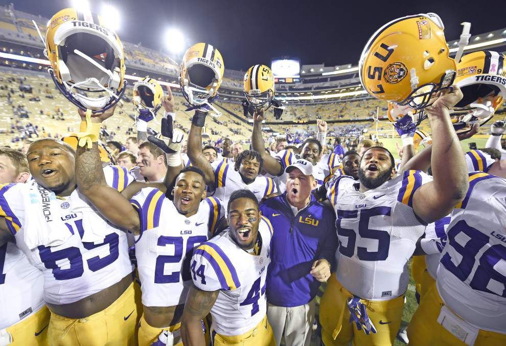 LSU football players aware they've lost three straight to Alabama _lowres
