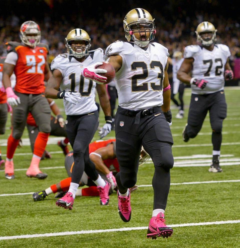 Saints RB Pierre Thomas returns to the lineup for Monday night Ravens showdown _lowres