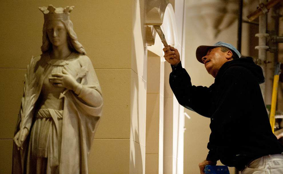 Nuns refurbish shrine to make it ready for Battle of N.O. bicentennial _lowres