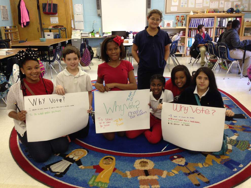 Hammond sixth-graders learn about elections, voting _lowres