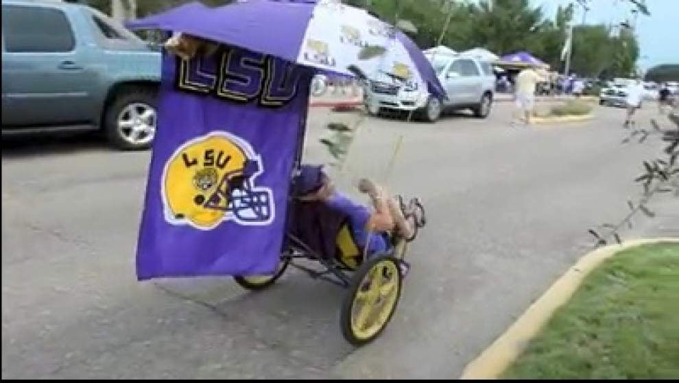 Video: LSU fans, band usher in LSU's home opener _lowres