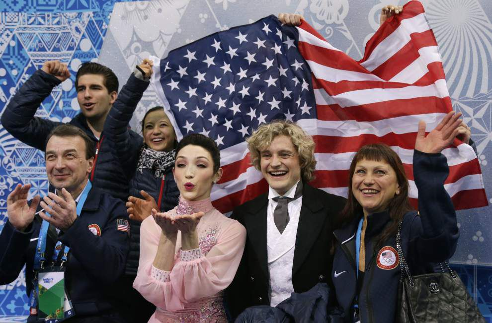 World champs Meryl Davis, Charlie White win team short dance for U.S. _lowres