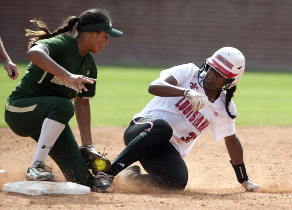 Ragin' Cajuns softball beats Baylor 3-1, advances to Sunday's championship round _lowres