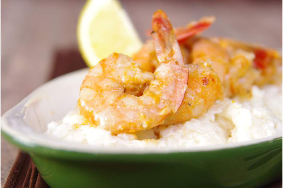I Eat La.: The fine art of layering and balance: Sweet and Smokey Glazed Shrimp and Creamy Risotto _lowres