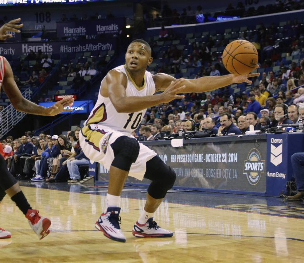 Pelicans guard Eric Gordon has back spasms and is not expected to play in Thursday's game against Oklahoma City _lowres