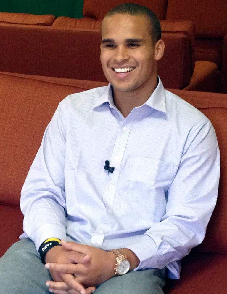 Northwestern ex-QB Kain Colter speaks on union idea _lowres