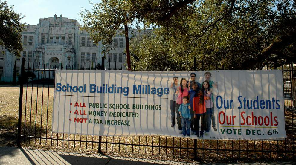 Orleans Parish School Board asking voters to approve rededication of existing tax for upkeep of new school buildings _lowres