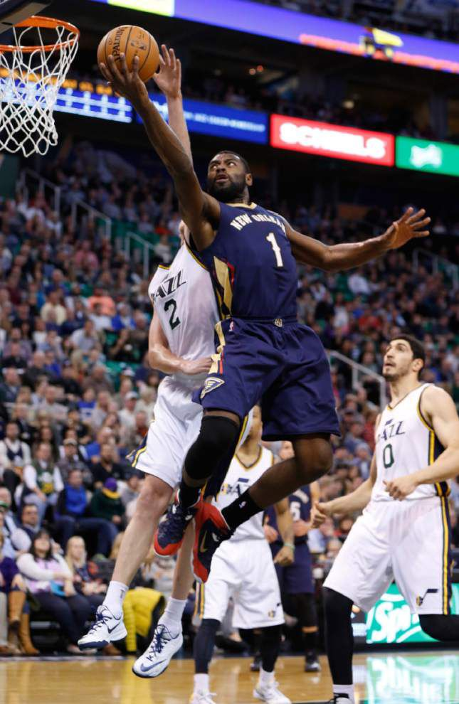 Anthony Davis scores career-high 43 as Pelicans beat Jazz _lowres