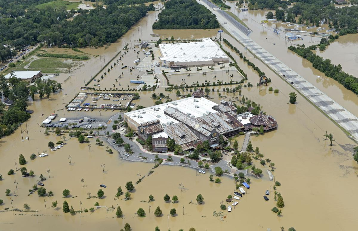 ... during severe flooding in Livingston Parish on Sunday August 14, 2016