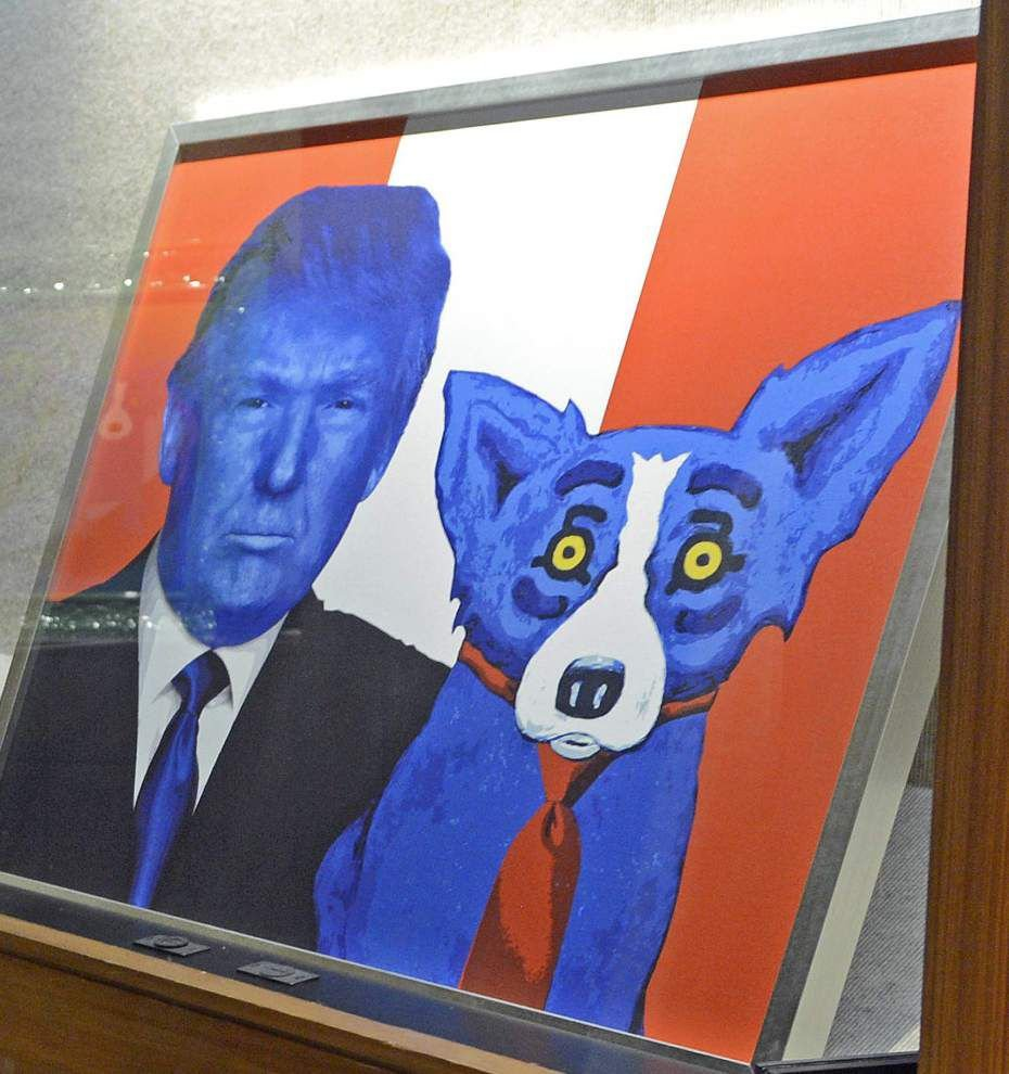 Most recent George Rodrigue work on display at state archives _lowres
