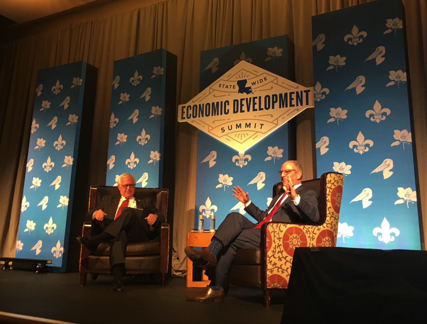 Governor fields questions from business community, while Rispone skips Baton Rouge forum