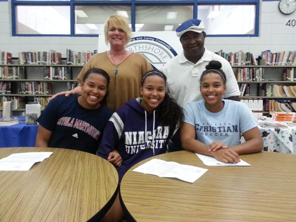 Northshore's Jordan triplets heading their separate ways to college _lowres