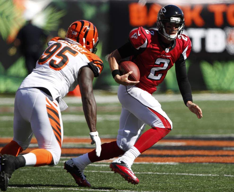 NFL roundup: Bengals run past Falcons _lowres