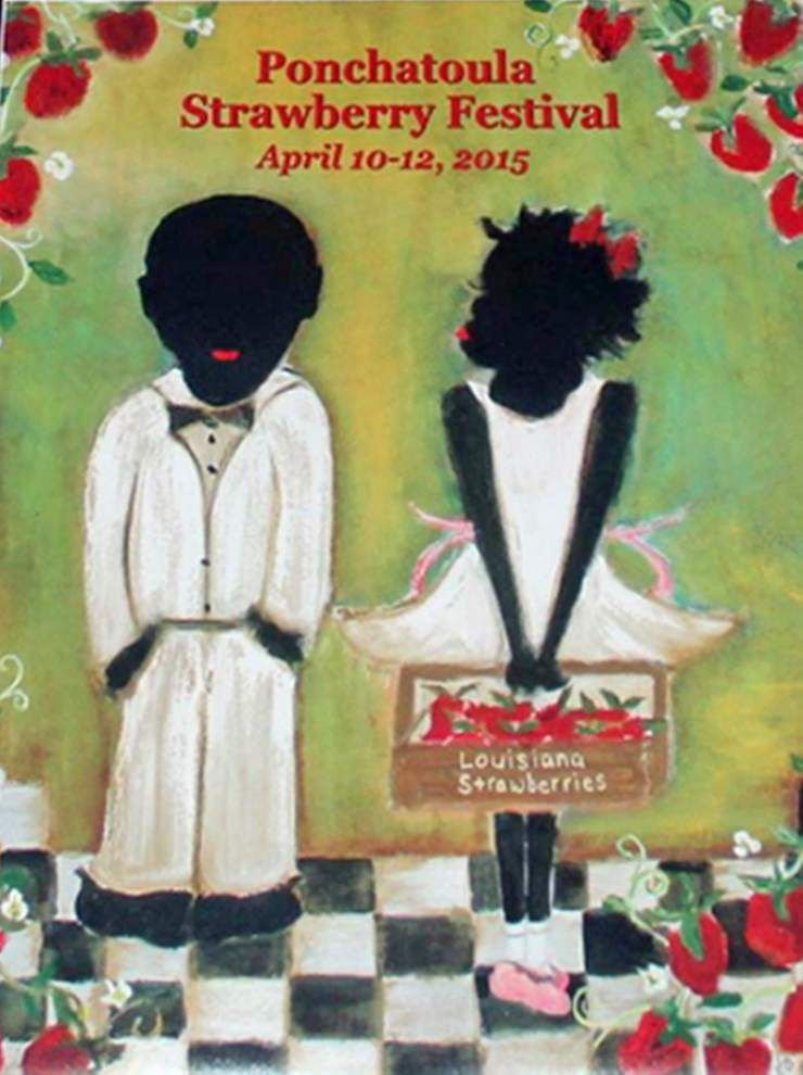 Strawberry Festival poster described as racist by some, beautiful by others _lowres