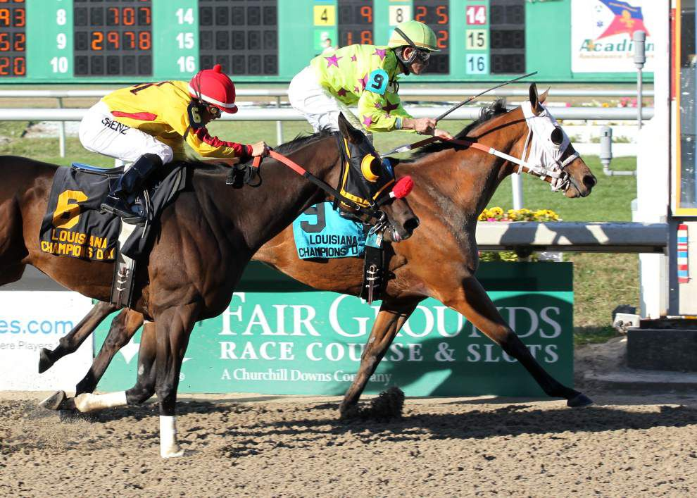 Too Dim finishes fast to win Louisiana Champions Day Sprint _lowres
