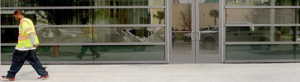 WWL-TV report: Vandals shoot out windows at New Orleans medical building _lowres