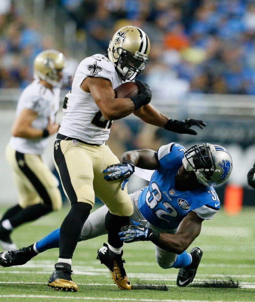 Saints RBs Pierre Thomas, Khiry Robinson ruled out for Sunday vs. the Packers _lowres