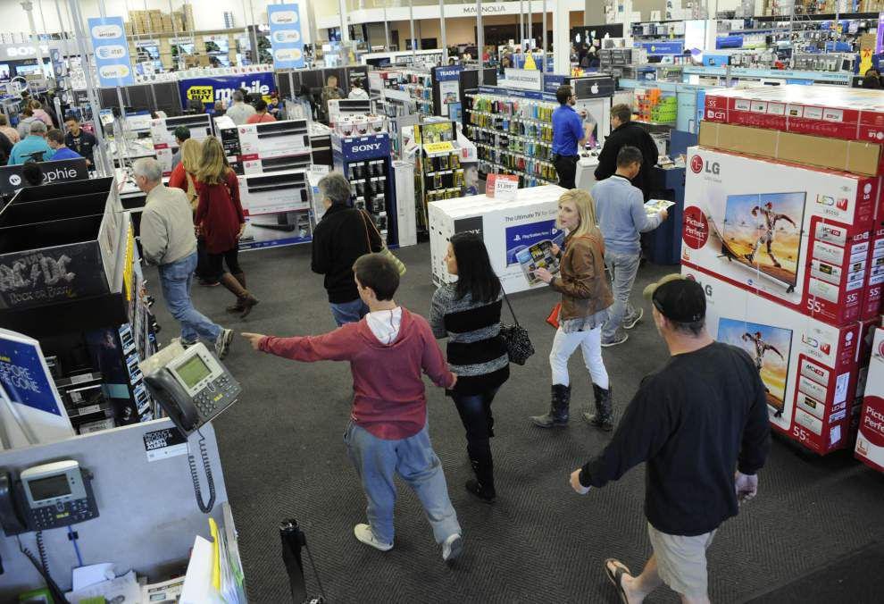 Black Friday in Acadiana means holiday deals, full carts, happy shoppers _lowres