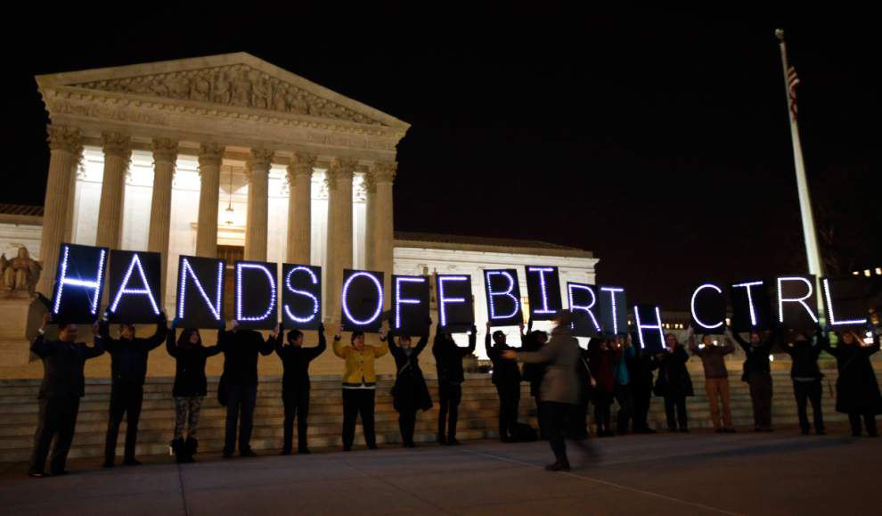 Justices tackle health law birth control coverage _lowres