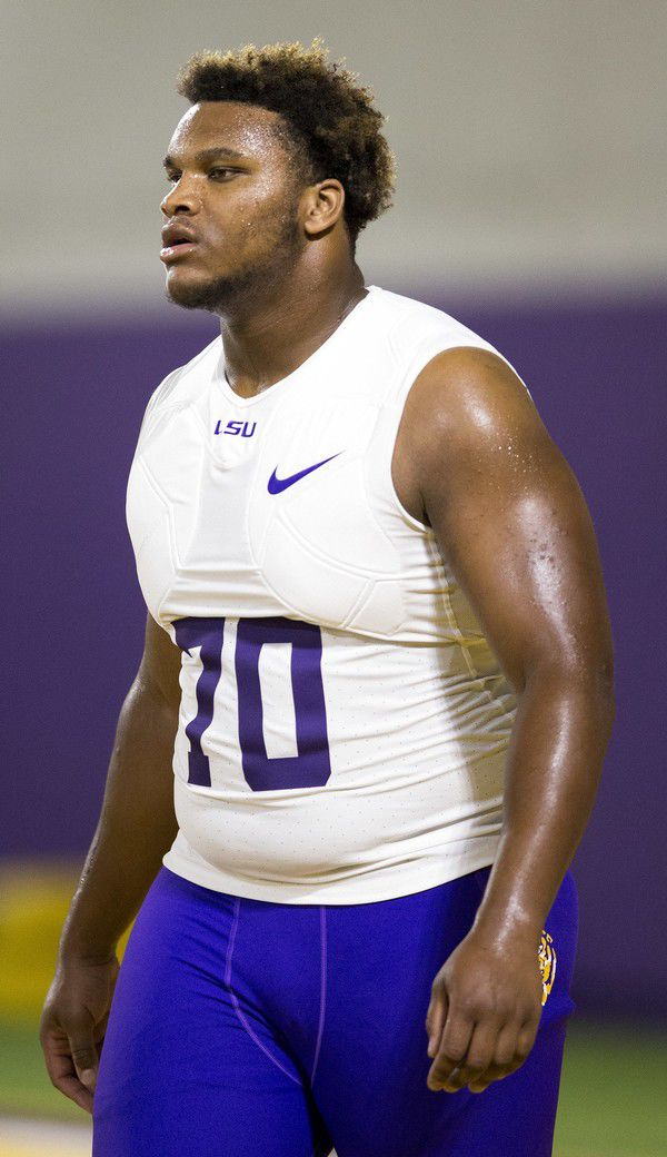 Ed Orgeron hoping for 'positive' news about LSU guard Ed Ingram's case this week