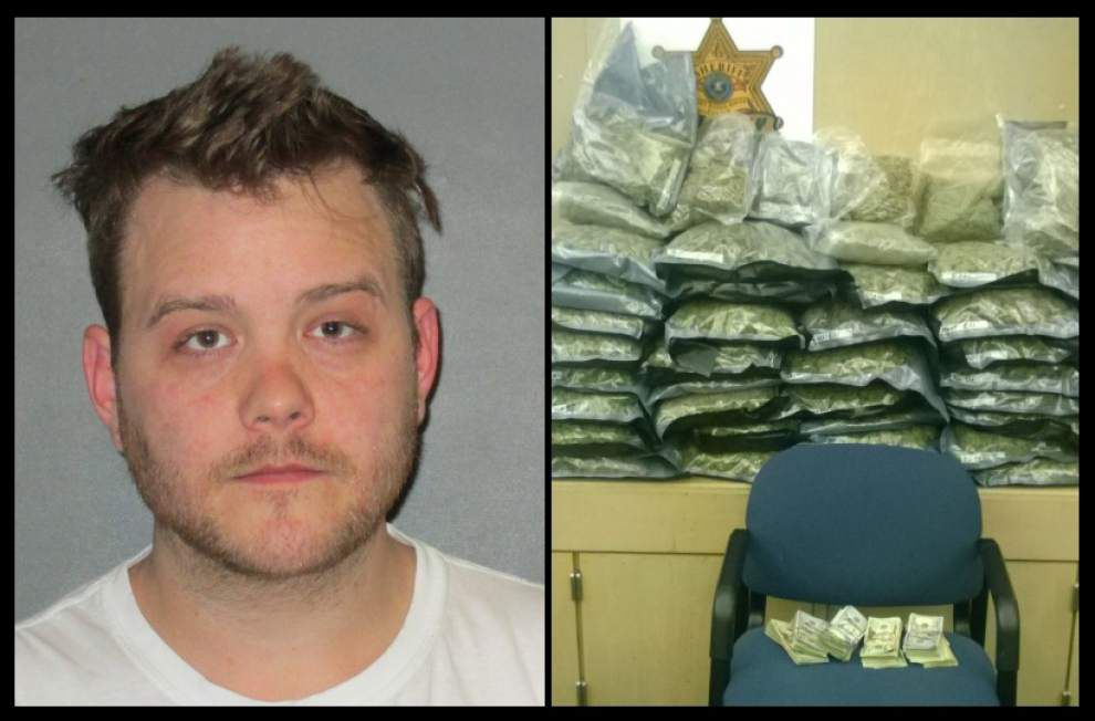 EBR Sheriff's deputies arrest man with 35 pounds of marijuana _lowres