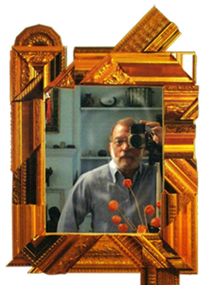 Found scraps in gilded frames are artist's medium _lowres