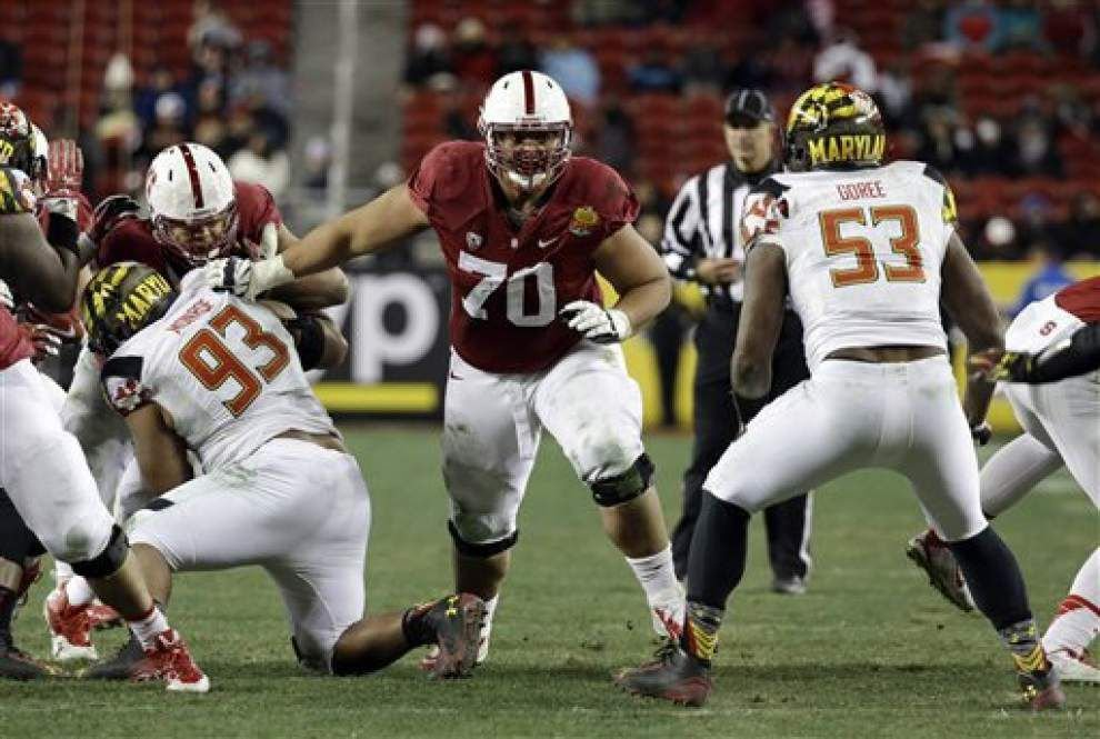 Lewis: Saints surprise experts, select Stanford's Andrus Peat; what position will he play? _lowres