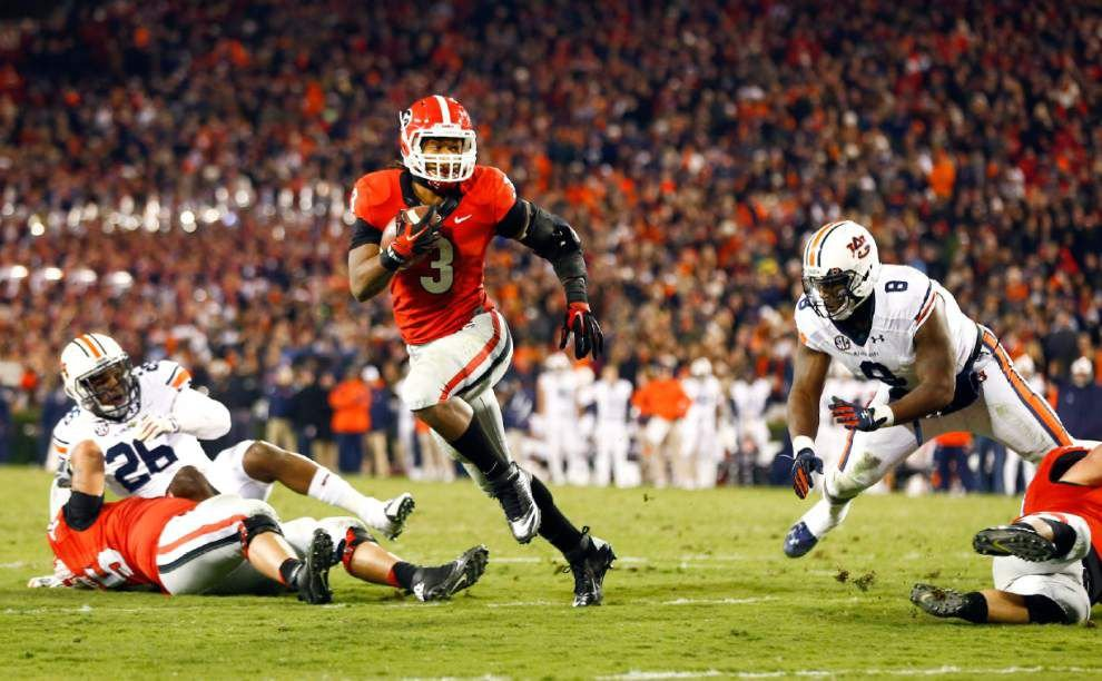 Georgia pounds Auburn with ground attack _lowres