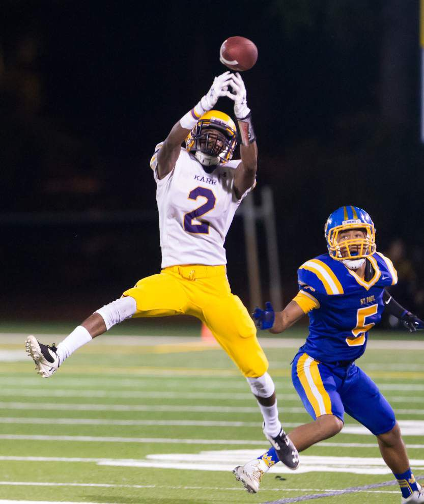 St. Paul's scores in final seconds to claim 26-25 win over Karr _lowres