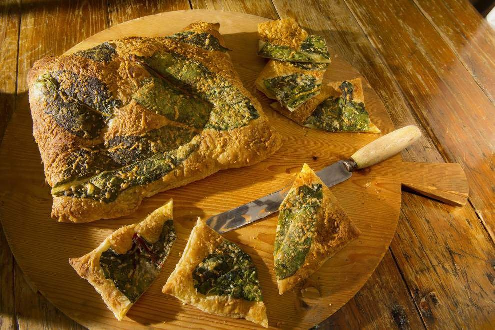 Gourmet Galley: Perfecting puff pastry: Top with Parmesan, Swiss chard _lowres