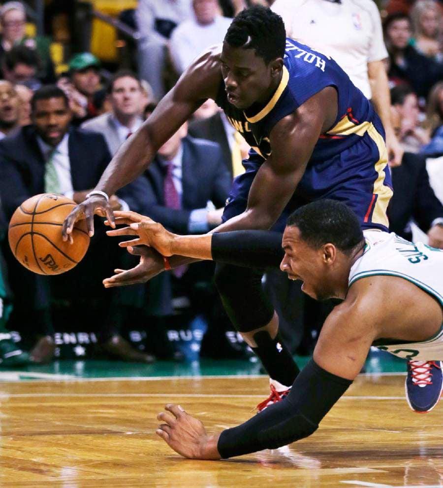 Pelicans falter again in Boston 108-100 _lowres