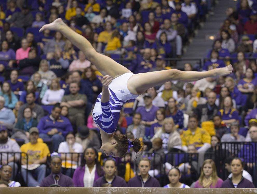 All-American Jessie Jordan returns as LSU gymnasts visit Auburn _lowres