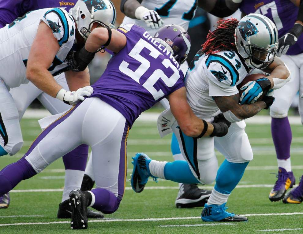 Vikings block two punts for TDs, rip Panthers _lowres