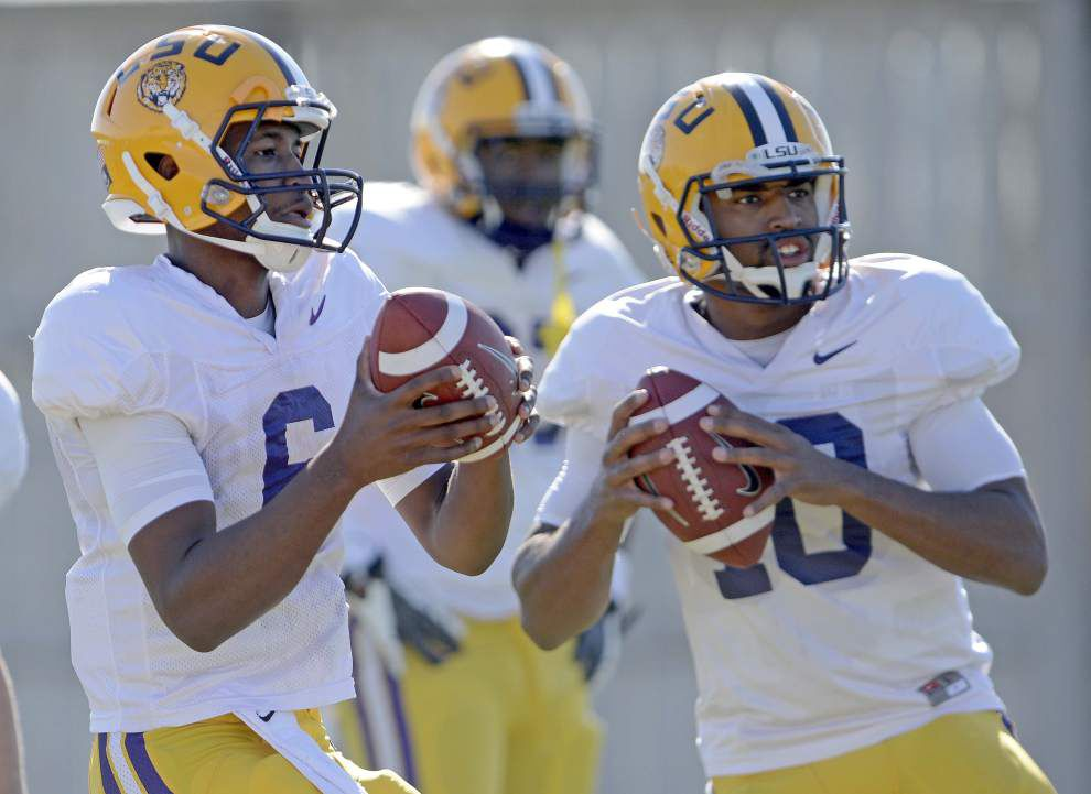 Les Miles: Brandon Harris has closed gap, but Anthony Jennings should start for LSU _lowres