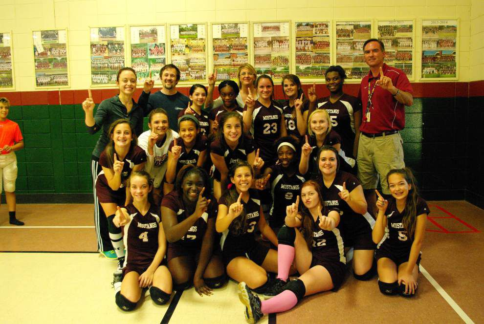 Central Middle girl's volleyball secures second parish title _lowres