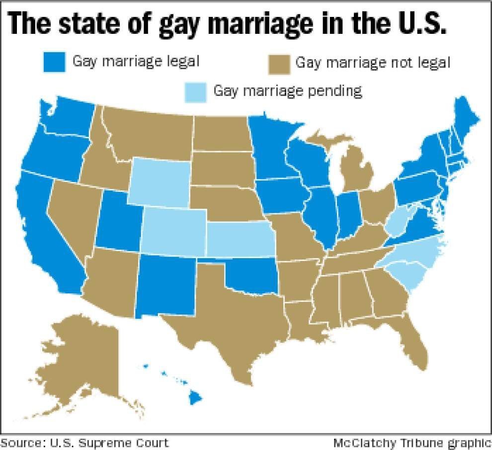 Justices' punt on gay marriage could put La. cases in spotlight _lowres