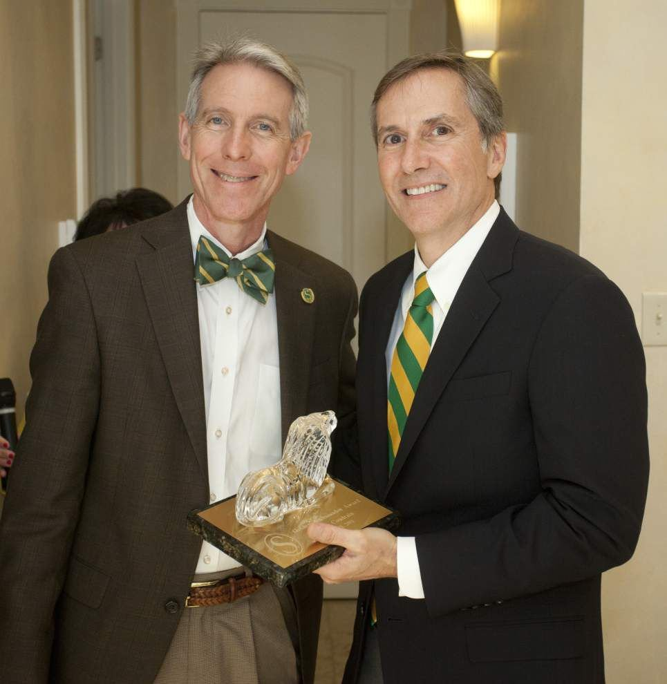 SLU honors Coudrain as Golden Ambassador _lowres