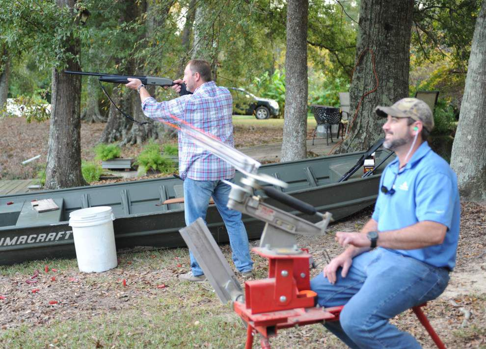 Rotarians gather for skeet shooting, shrimp _lowres