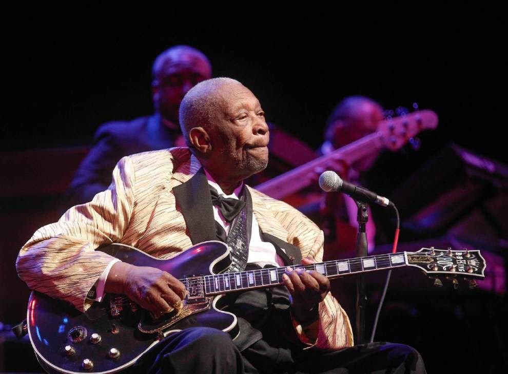 Erratic B.B. King performance makes fans blue _lowres