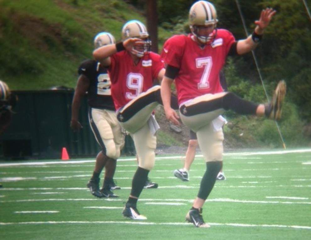 Brees, Bailey return in pads with limited work, White shines in Saints' Tuesday practice _lowres